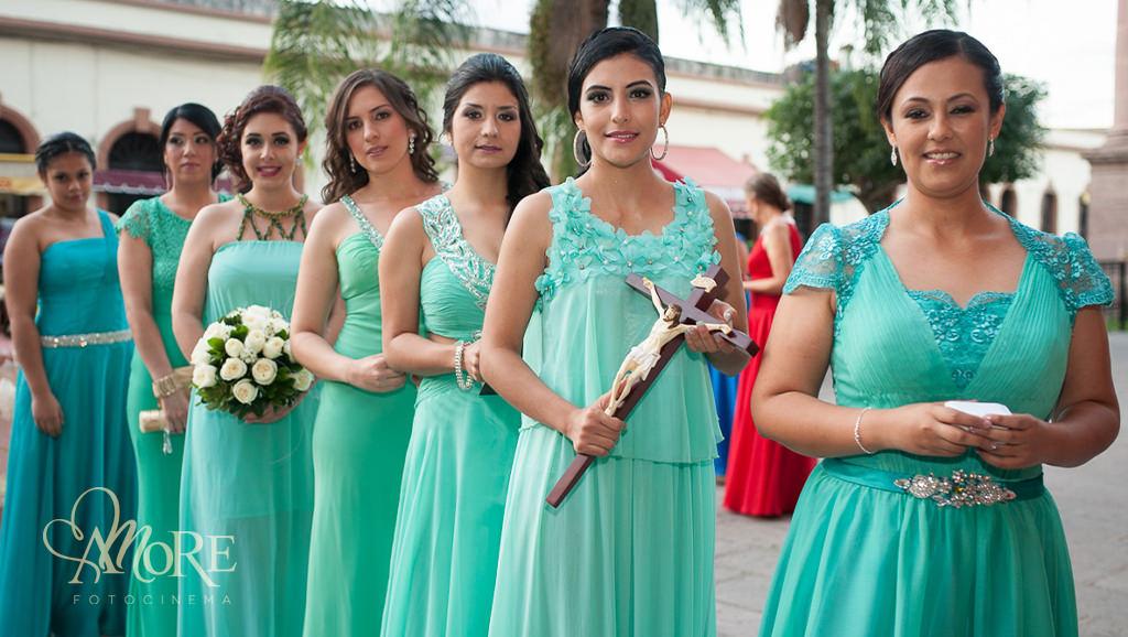 Vestidos para damas de honor en la Barca Jalisco