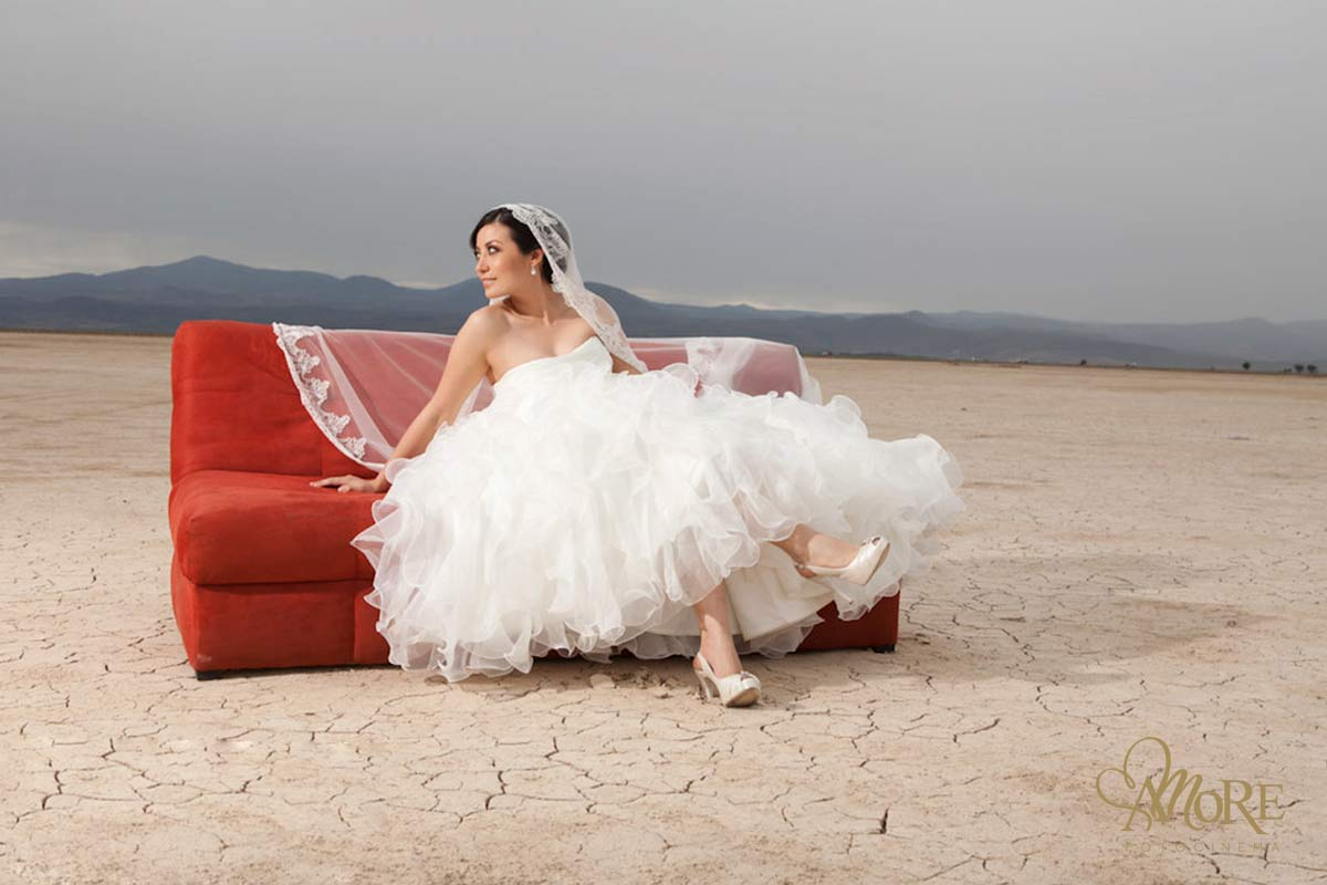 Trash the dress en playa o desierto