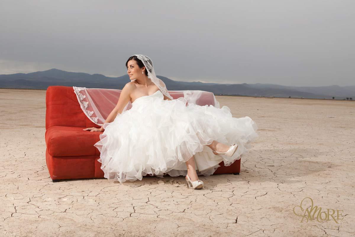 Trash the dress en playa o desierto